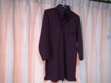 フランコのあずき色でハイネックのポロシャツ(XL)!。