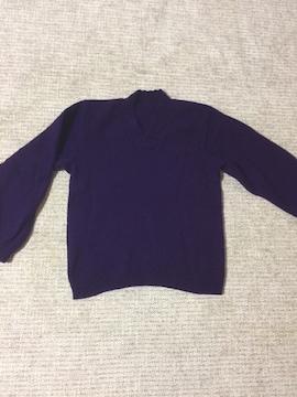 497.長袖ニットトップス☆紫/パープル☆M程度