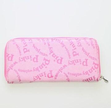 ピンキーウォルマン(Pinky wolman)Style-F ラウンドファスナー長財布 84041 桃