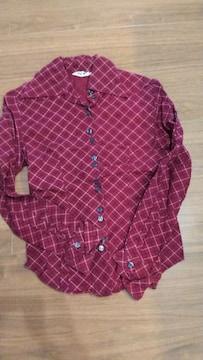 9号赤チェックシャツ��1223