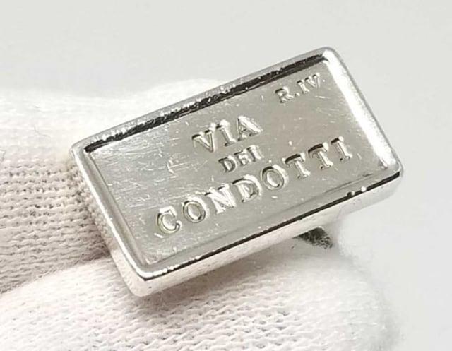 正規ブルガリカフスカフリンクスシルバーカフスSV925ロ < ブランドの