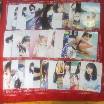 特価、美少女 与田祐希未使用L版高画質写真30枚セット+数枚