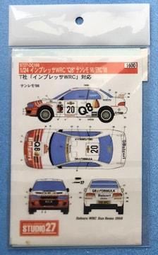 1/24 インプレッサ WRC ラリー デカール プラモ 用