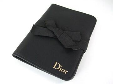 超美C..ディオール リボン 手帳 ブラック