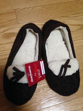 新品タグ付ディアフォームズUSAアメリカルームシューズモコモコ靴パンプス