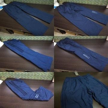 M 紺)アディダス ウィンドブレーカーパンツ DUQ94 中綿入りロングパンツ adidas