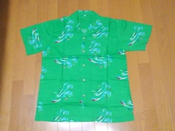 ★非売品★新品★競艇柄アロハシャツ★サイズM~L★緑