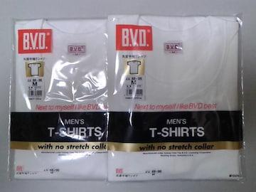 未開封/新品/ブランドB.V.Dの丸首(M)半袖シャツ 2枚セット !