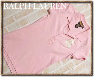 ラルフローレン 刺繍入り半袖ポロシャツ ピンク