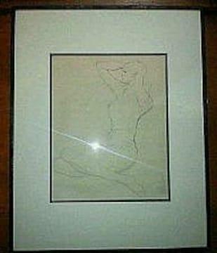 絵画 素描 岩田専太郎 女性 人物画 鉛筆画 真作保証 巨匠