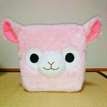 新品 アルパカ アルパカッソ ぬいぐるみ クッション ピンク 人形