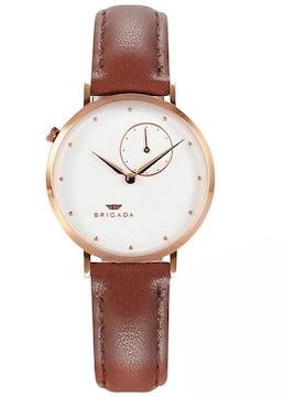 高級 薄い 時計 レディース 人気 白茶