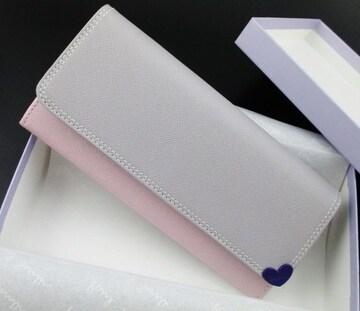 新品☆箱付 ポールスミス カラードハート 長財布 ピンク系