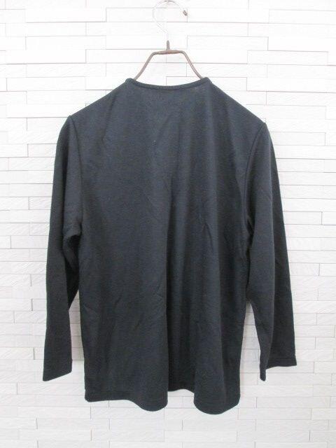 即決/PEARLY PIO/ヘンリーネックカットソー/大きいサイズ/黒 < 女性ファッションの