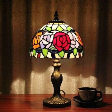 ティファニーランプ ステンドグラス 薔薇