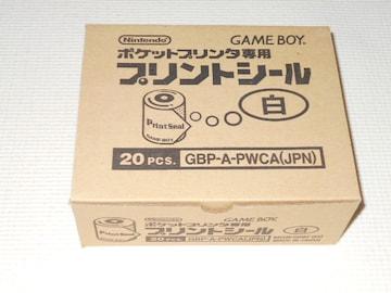 GB★プリントシール 白 ポケットプリンタ専用 1ケース(20個入り)