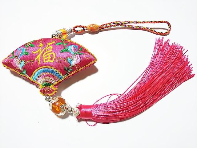 cocco★風水 扇ハンギングタッセル(ピンク)