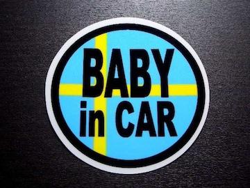 BABY in CARスウェーデン国旗ステッカー☆赤ちゃん☆ボルボ