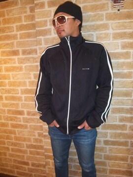 【大きいサイズ】TOMMYベーシックジャージ黒×白ラインXL♪トミー