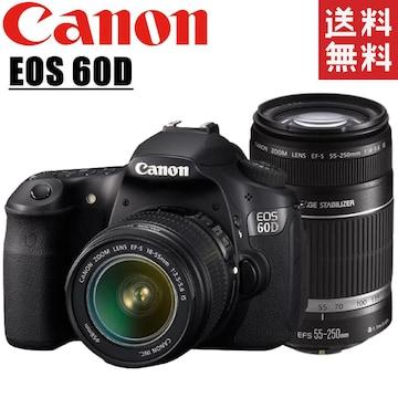 キヤノン canon EOS 60D ダブルレンズキット デジタル一眼レフ