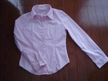 ★イネド INED シルエットが綺麗なシンプル綿シャツ★