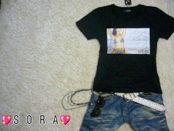 【LOWBOX】SEXYレディービキニプリントTシャツブラック