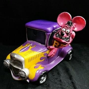 2004 レア ピンク RatFink ラットフィンク レジン フィギュア 紫