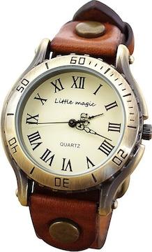 アンティーク 風 腕時計 ブラウン