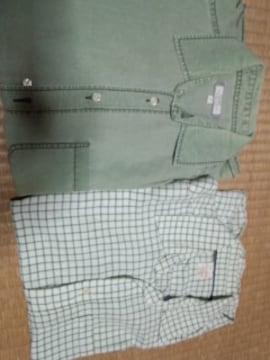 オールドネイビー 薄グリーン系シャツ 2枚セット