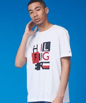 タグ付き新品トミーヒルフィガー/ブランドロゴTシャツトップス白