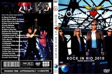 ≪送料無料≫BON JOVI ROCK IN RIO 6.4.2010 ボンジョヴィ最新!