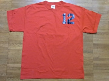 即決!USA古着●ナンバリングロゴデザインTシャツ赤!ヴィンテージ・アメカジ