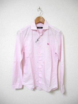 □バーバリーブラックレーベル リネン シャツ 長袖/メンズ/1(S)ピンク☆新品
