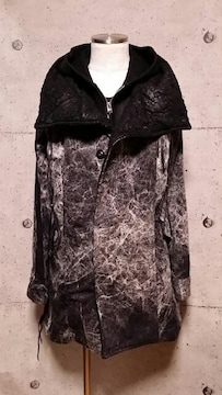 新品KMRIIケムリ LAYERED MODS COAT 1 BLACKWHITE