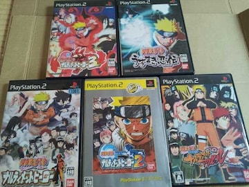 PS2☆NARUTO☆シリーズ作品6本まとめ売り♪