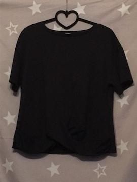 GU  L size ブラック 新品 裾変形 完売品
