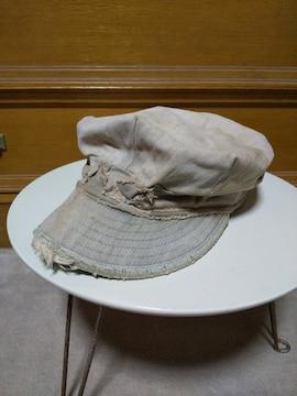 古着 ヴィンテージ ミリタリー ワークキャップ 帽子 ヘリンボーン カーキ ベージュ USA RRL