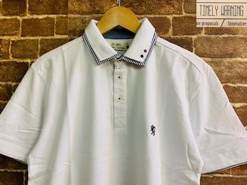 表記L/新品!鹿の子 ポロシャツ 半袖 モッズ UKロック ブリティッシュアメリカンスタイル