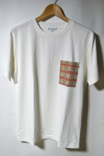新品 グローバルワーク ポケットTシャツ 半袖 ホワイト M メンズ  < ブランドの