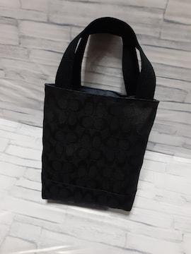 ミニバック トートバッグ ハンドメイド ブラック