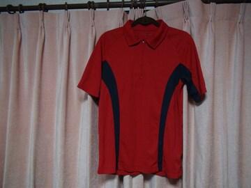 しまむらの赤のポロシャツ(M)!。