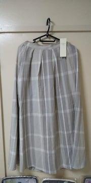 サマンサモスモスブルー♪チェック柄アソートスカート未使用品