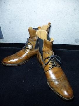 アルフレッドバニスター〓レースアップブーツ靴〓キャメル/43
