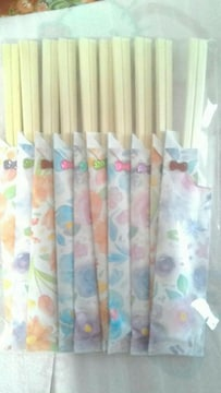 シ・送込 新品☆ハンドメイド 割り箸の袋&割り箸10本入