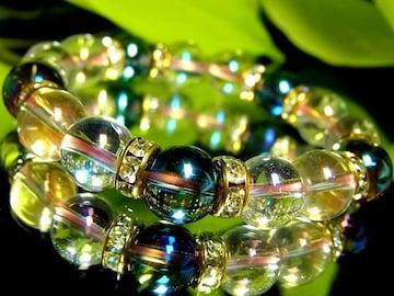 ピンクオーラ§ブルーオーラ10ミリ数珠