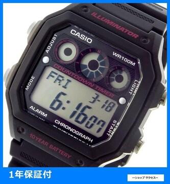 新品 即買■カシオ スタンダード 腕時計 AE-1300WH-8A ブラック