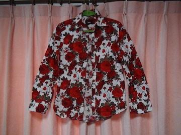 EDGEの薔薇のドレスシャツ日本製(M)!。