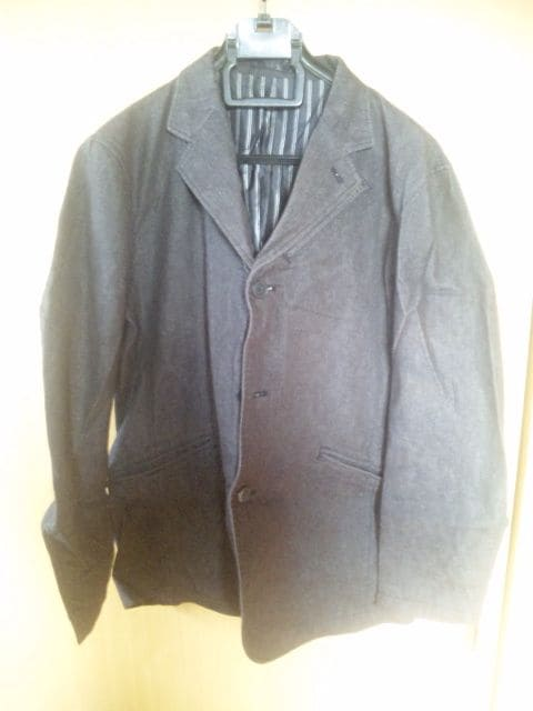 シンプルジャケット 黒 サイズL  < 男性ファッションの