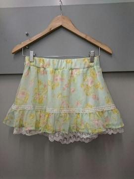 CECIL McBEE☆淡い花柄シフォンスカート