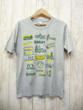 即決☆コロンビア 特価 プリントTシャツ GRY/XL UVケア 新品